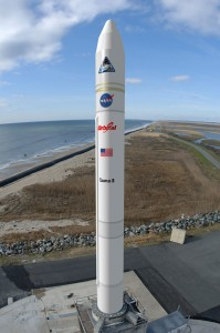 OSC's Taurus II rocket at Wallops Island.