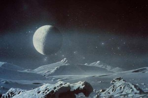 Pluto and its moon, Charon