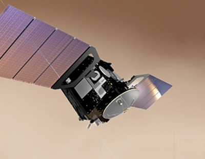 Artist conception of ExoMars Trace Gas Orbiter (Image Credit: ESA)