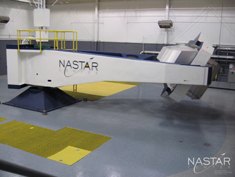 Centrifuge used for pilot and passenger training. (Credit: NASTAR)