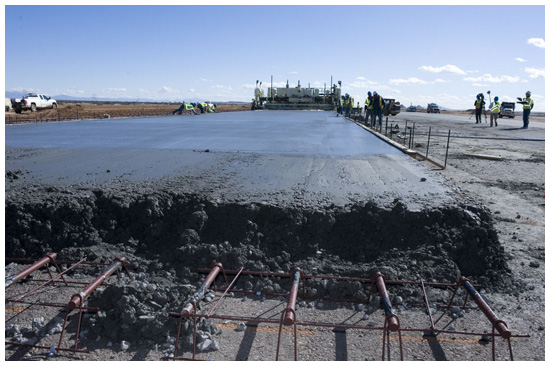 Spaceport America's runway under construction