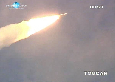 An Ariane 5 rocket soars into orbit on Dec. 29, 2010. Credits: ESA / CNES / Arianespace / Photo Optique vidéo du CSG