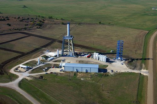 SpaceX's test site in McGregor, Texas. (Credit: SpaceX)