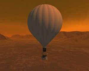 Titan Balloon A Flagship class Titan Explorer mission is conceived with montgolfiere (hot air balloon) to circumnavigate the surface of Titan at jetliner altitudes, but allow occasional descents to the surface. Credit: NASA/JPL-Caltech