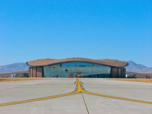 The Terminal Hangar Facility at Spaceport America will house Virgin Galactic's WhiteKnightTwo and SpaceShipTwo. (Credit: David Wilson, Spaceport America)