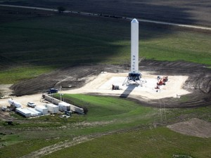 Grasshopper on the pad in Texas. (Credit: SpaceX)