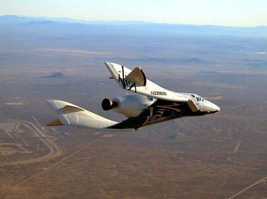 SpaceShipTwo in flight on Dec. 19, 2012. (Credit: Virgin Galactic)