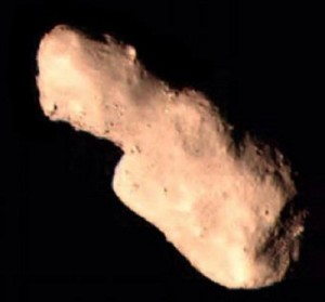 The asteroid Toutatis photographed by Chang'e 2. (Credit: SASTIND)