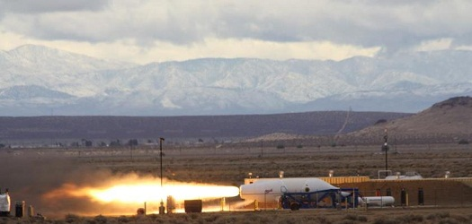 RocketMotorTwo test on March 8, 2013. (Credit: Virgin Galactic)