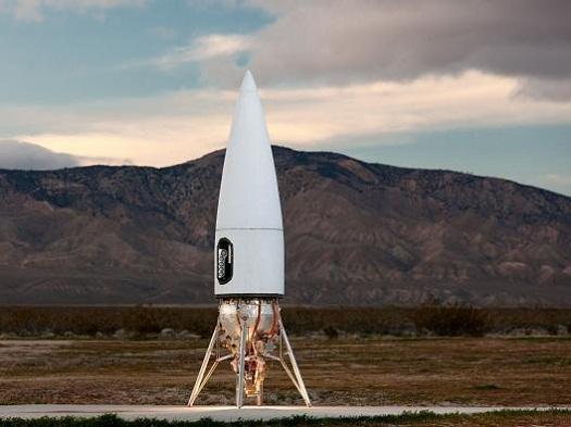 Test flights will eventually take place on Masten Space Systems' Xaero vehicle. (Credit: Masten Space Systems)