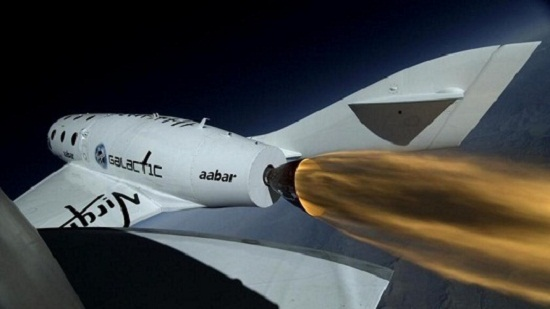 Boom camera shot. (Credit: Virgin Galactic)