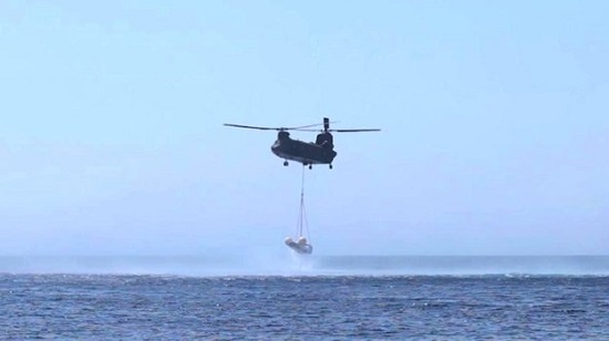 On the 19 June 2013 the IXV Descent and Landing System Test was successfully performed off the east coast of Sardinia, Italy, at the Poligono Interforze Salto di Quirra. (Credit: ESA/CIRA)