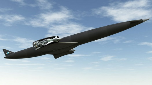 Skylon with the SABRE engine. (Credit: Reaction Engines)
