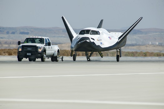 Dream Chaser undergoing a tow test. (Credit: Sierra Nevada Corporation)