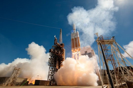 Launch of Delta IV NROL-65, August 28, 2013 from Vandenberg Air Force Base. (Credit: ULA)