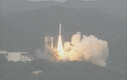 Japan's newest rocket, Epislon, lifts of