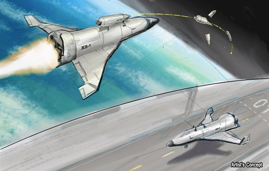 Artist's conception of a nominal X-S1 vehicle. (Credit: DARPA)