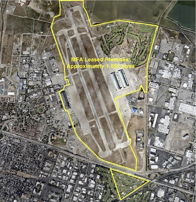 Moffett Federal Airfield lease area.