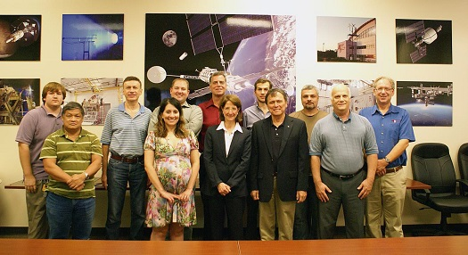 Members of the Ad Astra Houston team welcomed Ambassador Andrew (center) on October 2, 2013, during her first tour of the company's U.S. facility as a member of the Ad Astra Board of Directors. (Credit: Ad Astra Rocket Company)