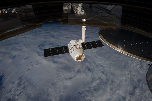 SpaceX's Dragon spacecraft. (Credit: NASA)