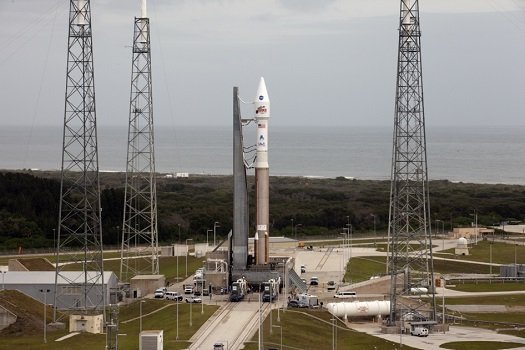 Atlas V with MAVEN aboard on the launch pad at Cape Canaveral. (Credit: NASA/Kim Shiflett)