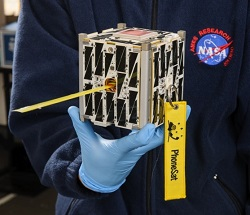 Closeup of a NASA Ames PhoneSat (Credit:  NASA Ames Research Center/Dominic Hart)