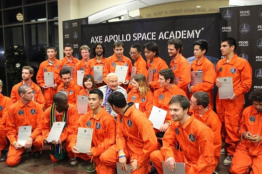 The winners with Buzz Aldrin. (Credit: SXC)