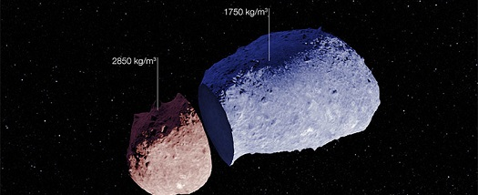 Schematic view of asteroid (25143) Itokawa. (Credit: ESO)