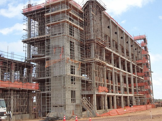 Cyclone_4 processing complex under construction at the Alcantara Launch Center in Brazil. (Credit: Alcantara Cyclone Space)