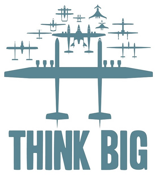 The Think Big image was initially created to show the progression of a selection of Scaled Composite's projects. (Courtesy of Scaled Composites, LLC)