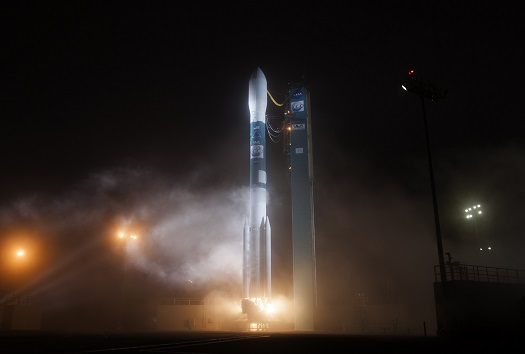 A United Launch Alliance (ULA) Delta II rocket carrying the Orbiting Carbon Observatory-2 (OCO-2) payload for NASA lifted off from Space Launch Complex-2 at 2:56 a.m. PDT today. (Credit: United Launch Alliance)