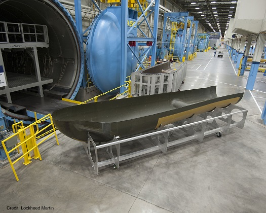 SNC's Dream Chaser® orbital structural airframe at Lockheed Martin in Ft. Worth. (Credit: Lockheed Martin)
