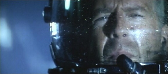 Bruce Willis in Armageddon.