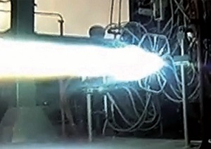 BE-4 staged combustion testing (Credit: Blue Origin)