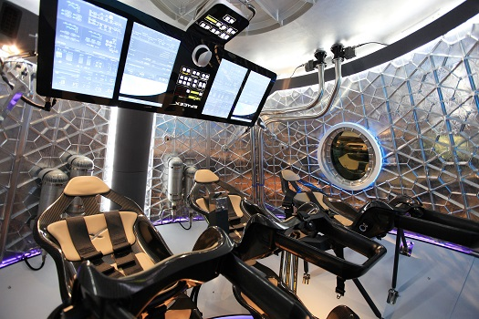 A look inside the Crew Dragon in development by SpaceX. (Credit: NASA/Dimitri Gerondidakis)
