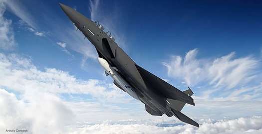 Boeing's ALASA launch system features a F-15E aircraft and an innovative booster. (Credit: Boeing)