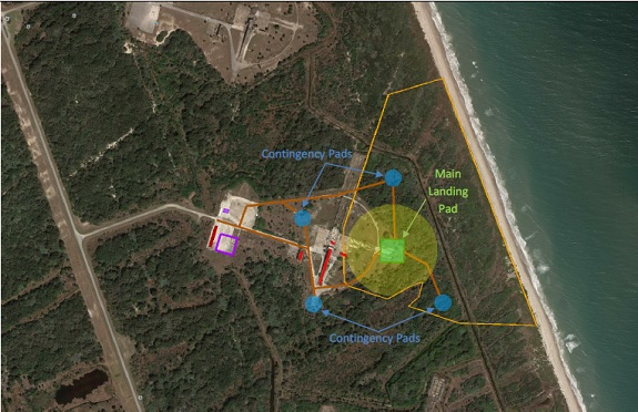 Proposed SpaceX landing facility (Credit: Gator Engineering & Aquifer Restoration, Inc.)