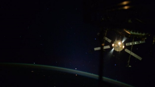 ATV-5 departs the International Space Station. (Credit: NASA)