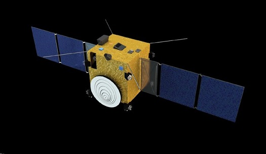 Asteroid Impact Mission spacecraft. (Credit: ESA/The Science Office Ltd.)