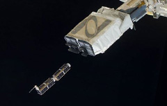 CubeSat deployed from ISS. (Credit: NASA)