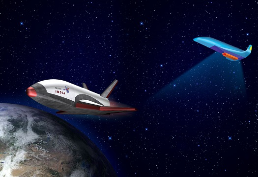 Artist's conception of Indian reusable vehicles (Credit: ISRO)