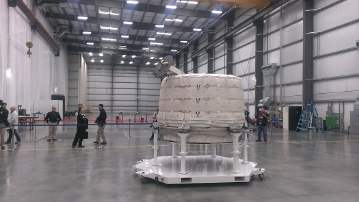 Bigelow BEAM module ready for shipping. (Credit: Douglas Messier)