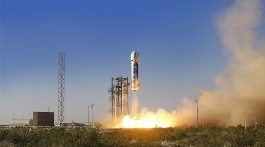 New Shepard flight test (Credit: Blue Origin)