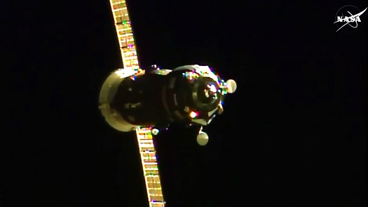 Progress 60P on approach to ISS. (Ctedit: NASA TV)