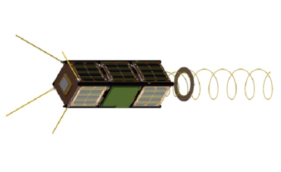 Led by Gomspace in Denmark, GOMX-3 is a 3-unit CubeSat mission to demonstrate aircraft ADS-B signal reception and geostationary telecommunication satellite spot beam signal quality using an L-band reconfigurable software defined radio payload. (Credit: ESA)