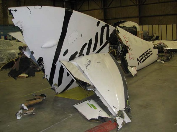 SpaceShipTwo right boom. (Credit: NTSB)