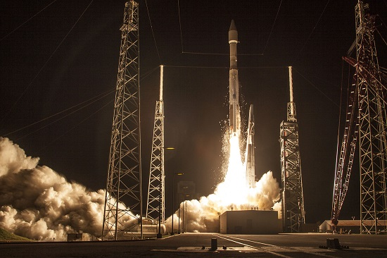 An United Launch Alliance (ULA) Atlas V rocket carrying the Morelos-3  mission lifted off from Space Launch Complex 41 at 6:28 a.m. EDT. (Credit: ULA)
