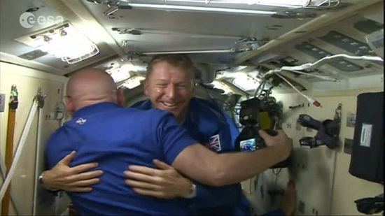 Tim Peake arrives at Space Station. (Credit: ESA/NASA)
