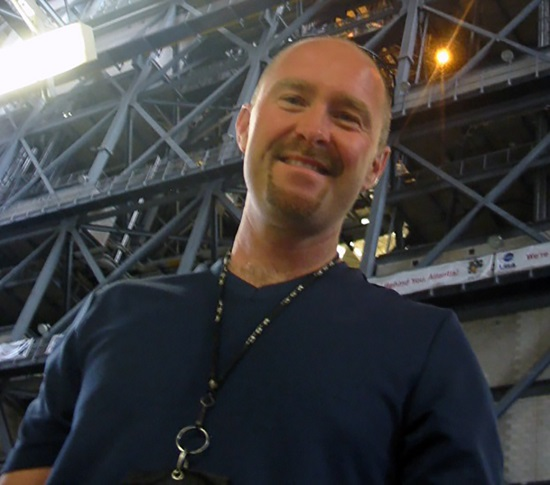 Engineer Jeff Thon at the Vehicle Assembly Building at NASA's Kennedy Space Center in Florida. (Credit: Jeff Thon)