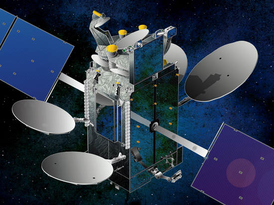 A new-fangled modem that will employ an emerging technology called integrated photonics will be tested as part of NASA's Laser Communications Relay Demonstration mission. (Credit: NASA)